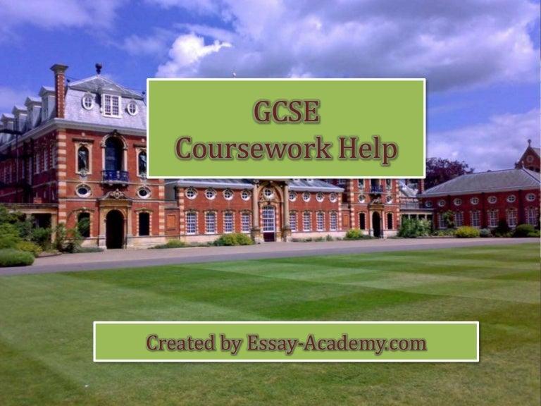Coursework help gcse