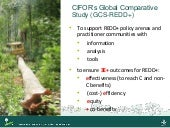 CIFOR's Global Comparative Study (GCS-REDD+)