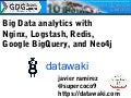 Big Data analytics with Nginx, Logstash, Redis, Google Bigquery and Neo4j, javier ramirez, datawaki