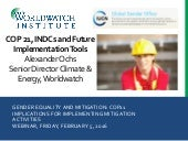 COP21, INDCs and Future Implementation Tools