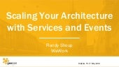 Scaling Your Architecture with Services and Events