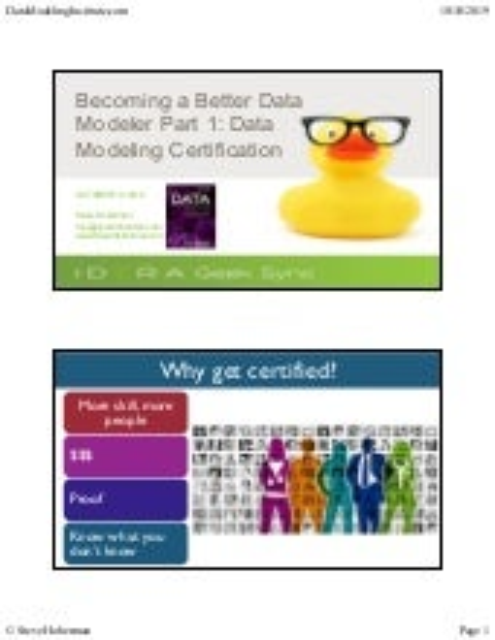 Geek Sync | Becoming a Better Data Modeler: Part 1 (Data Modeling Certification)