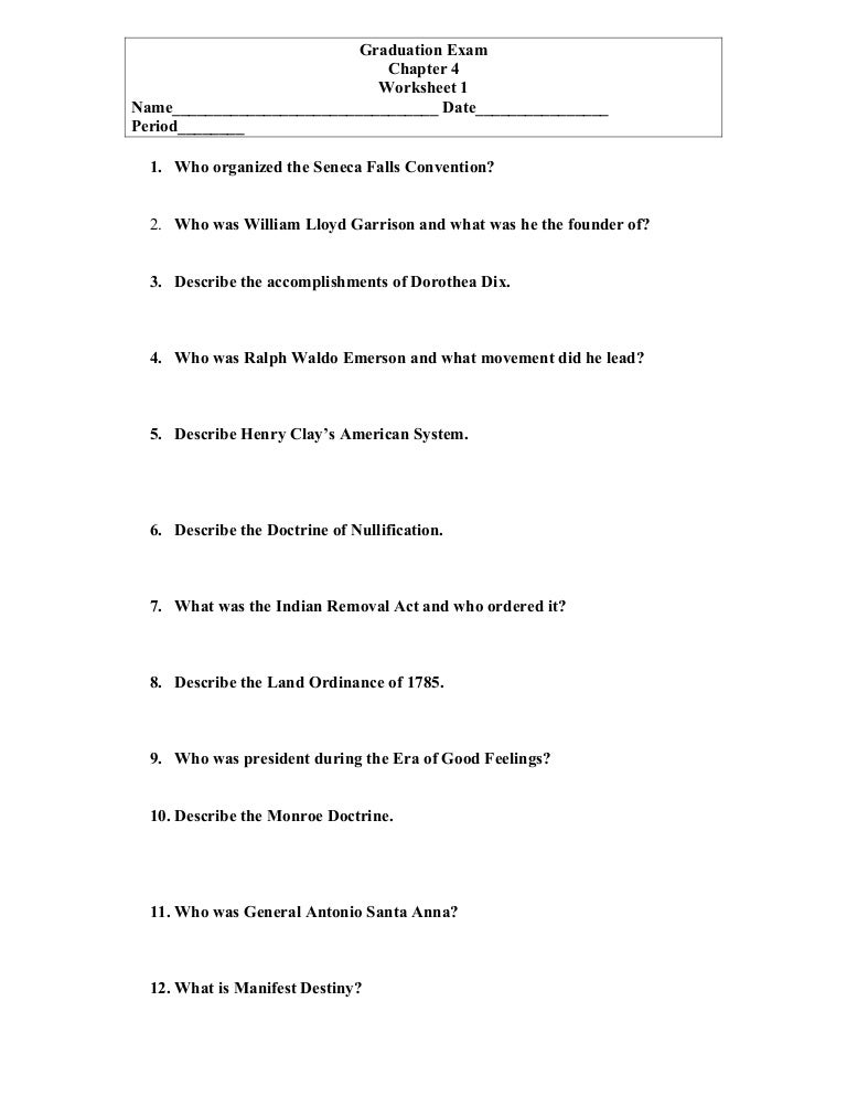 ahsge social studies ch 4 Worksheet – Monroe Doctrine Worksheet