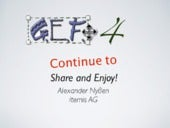 GEF4 - Continue to Share and Enjoy!
