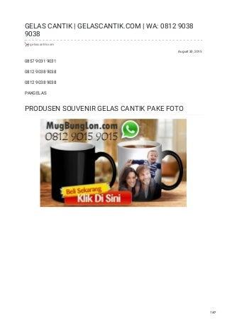 WA/TLP: 0812 9015 9015, AGEN OREO MUG