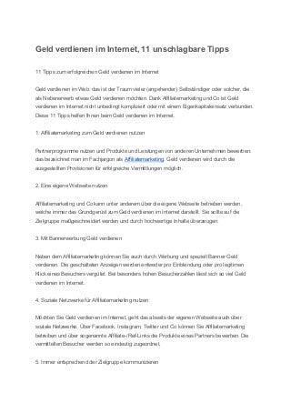 Geld verdienen im internet 11 unschlagbare tipps (1)