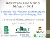 Gender food & nutrition security  and agriculture