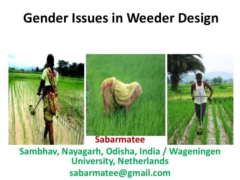 1415 - Gender Issues in Weeder Design