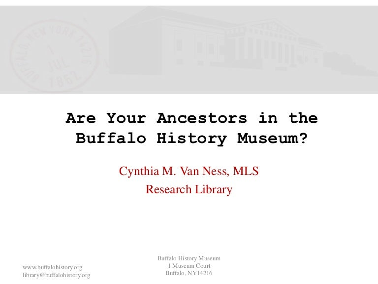 Are Your Ancestors in the Buffalo History Museum?