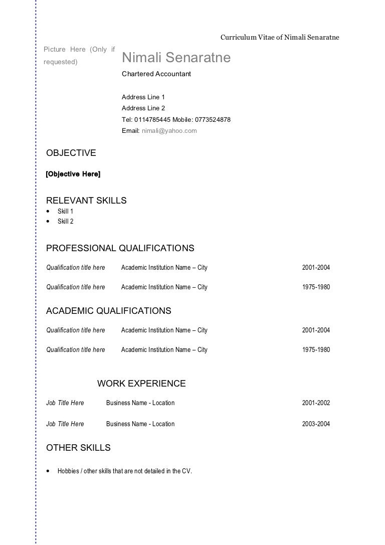 General Format Of Resume sample resume objectives general – Resume General Format