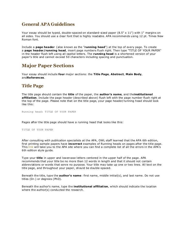 apa headings 6th edition example