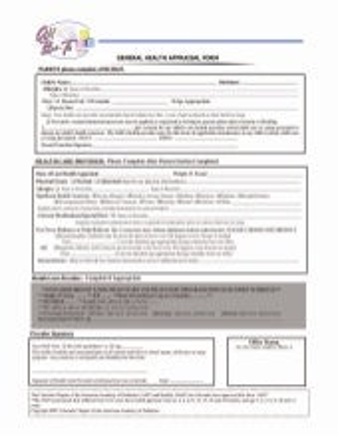 General health appraisal form