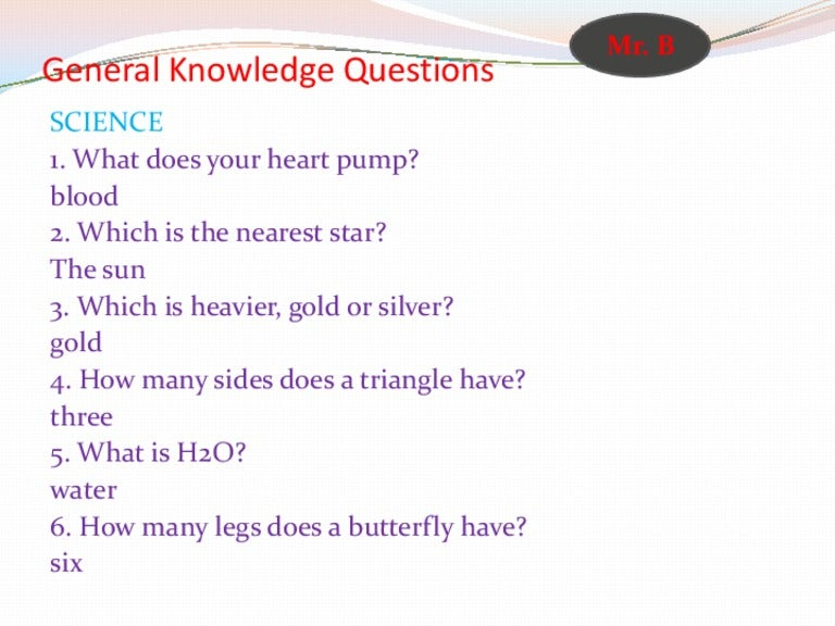 100 Easy General Knowledge Quiz Questions And Answers ...