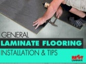 General Laminate Flooring Installation and Tips