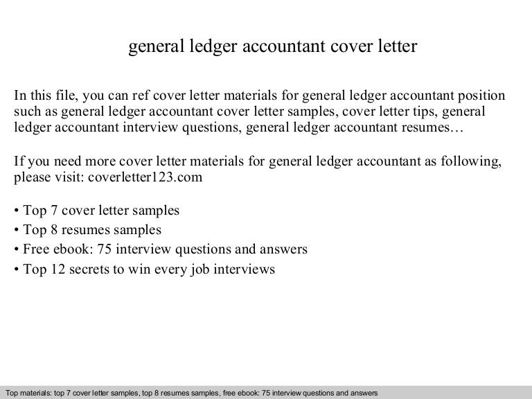 General ledger accountant cover letter