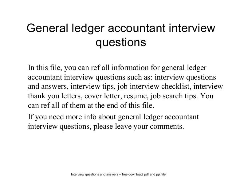 Interview Questions Accountant  Accounting Interview Questions