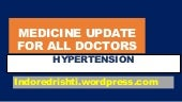 General medicine update for every doctor hypertension