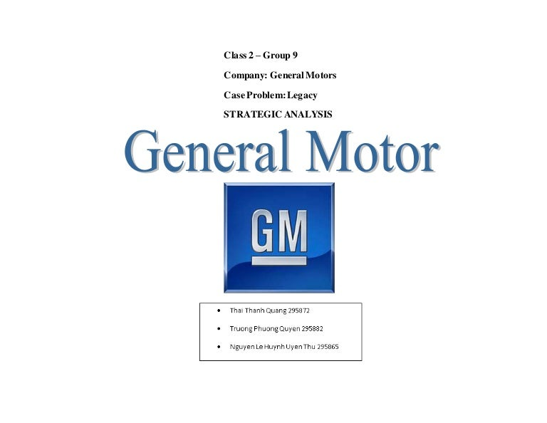 general motors project rh slideshare net