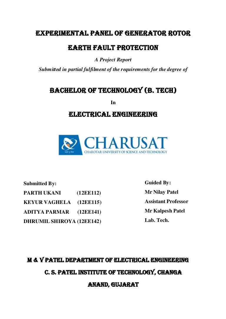 Generator Rotor Earth Fault Protection Circuit Breaker Wiring Dc Ground How To Wire