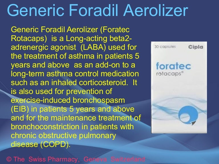 Generic Foradil Aerolizer for Treatment of Asthma EIB and COPD