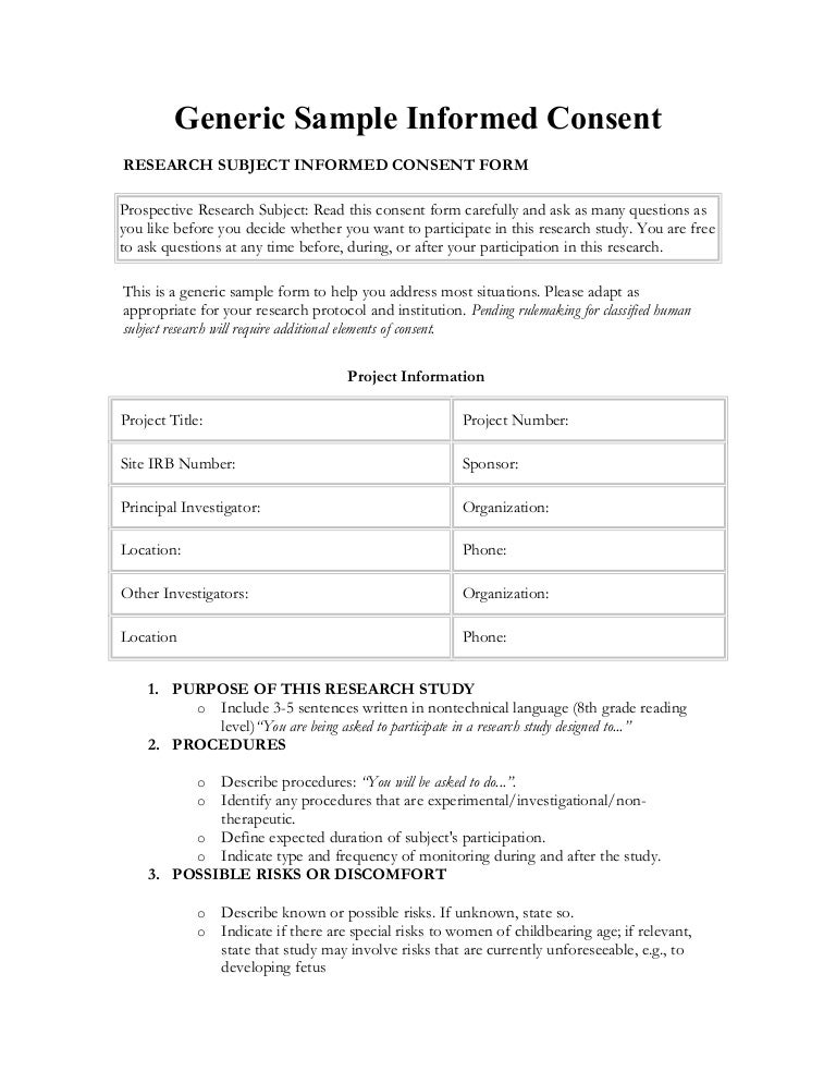 Informed Consent in Spanish – Research Consent Form Template