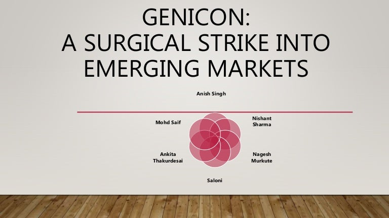 genicon a surgical strike into emerging markets