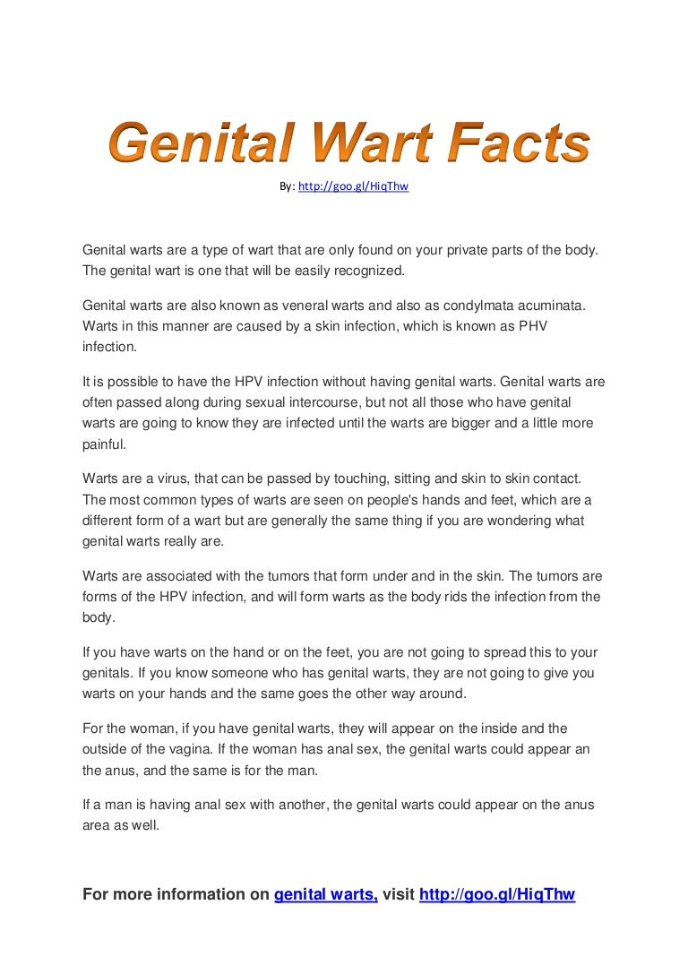 You have genital warts