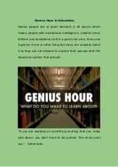 Genius hour in education