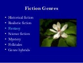 Fiction Genres 2: Science Fiction and Fantasy