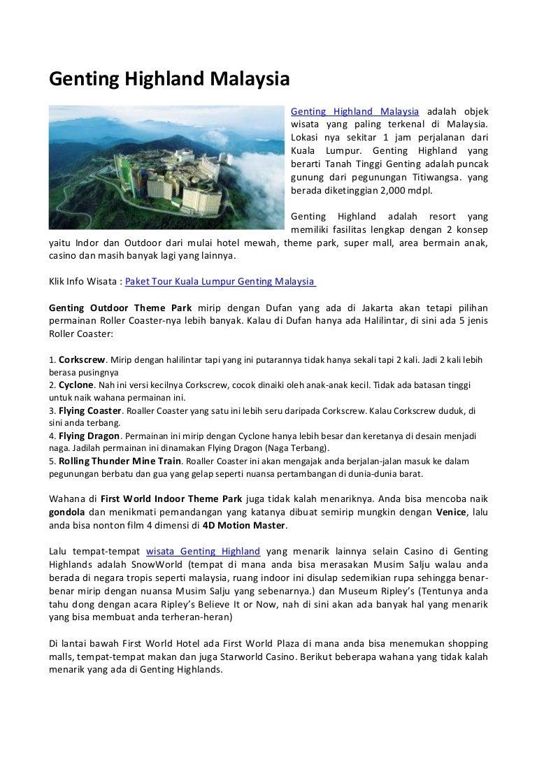 Genting Highland Malaysia