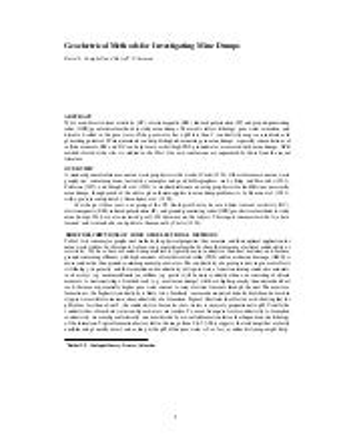 Geoelectrical methods for investigating mine dumps