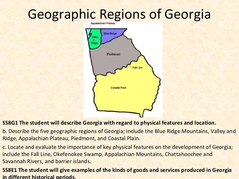 the five regions of georgia