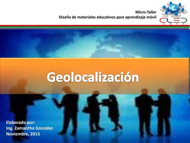 Geolocalización móvil