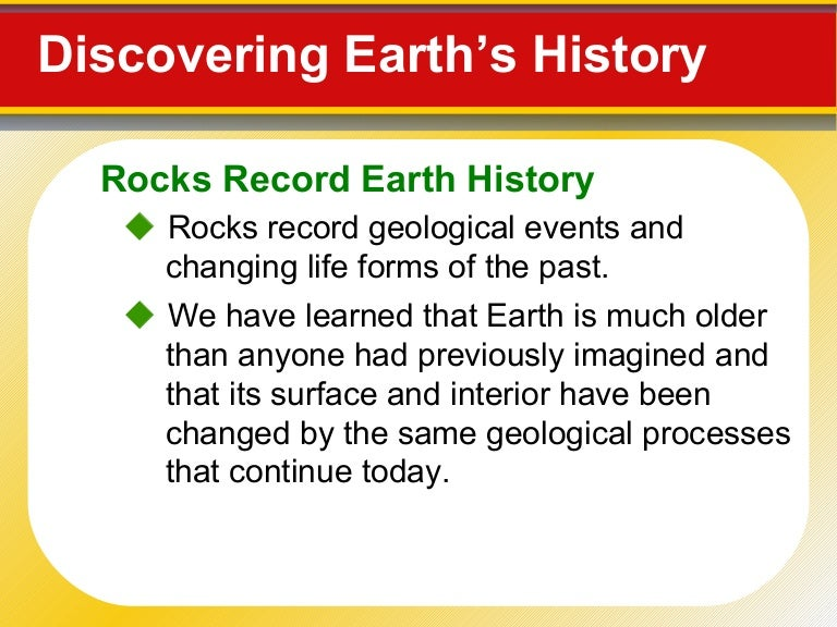 Earth dating techniques