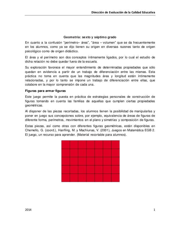 Geometría sexto y séptimo grado