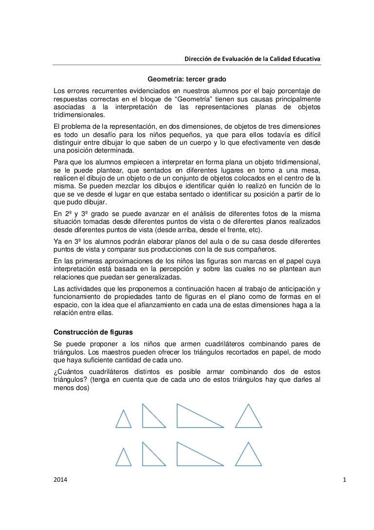 Geometría Tercer Grado