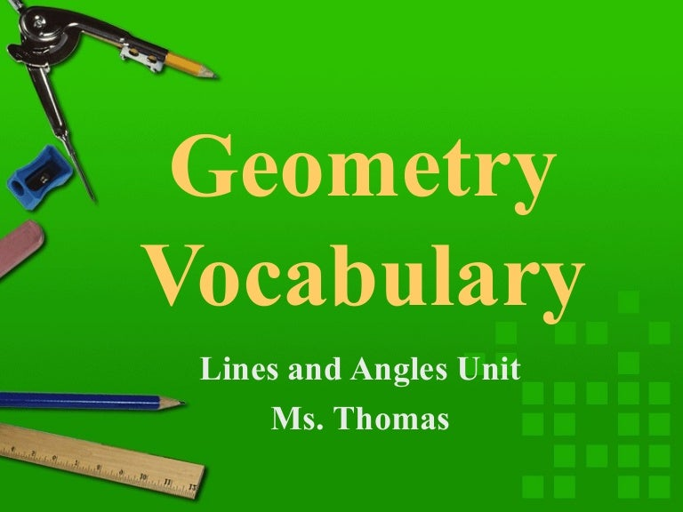 Geometry Vocabulary Word Wall Cards