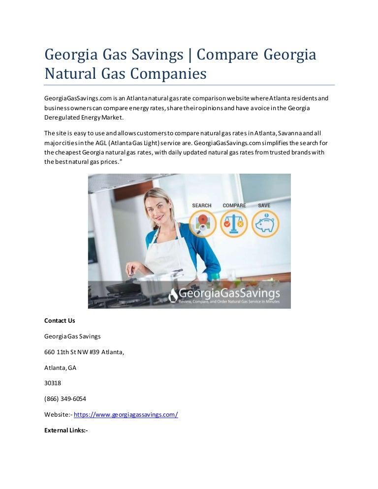 Gas Companies In Georgia >> Georgia Gas Savings