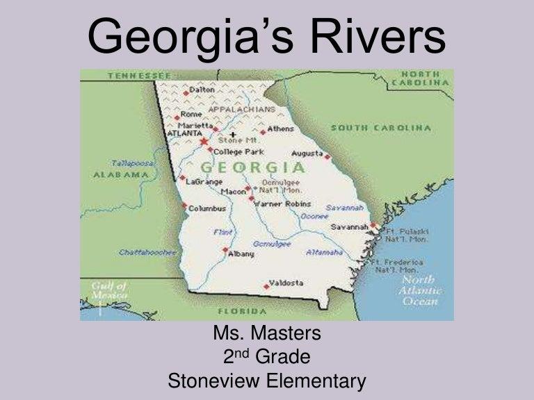 Georgias Rivers - Georgia map savannah river