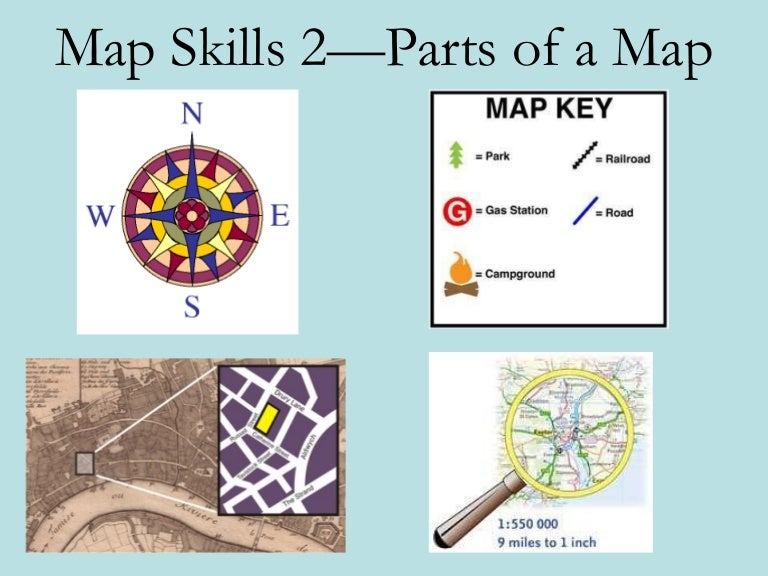 Geo Skills 2 Parts of a Map – Parts of a Map Worksheet