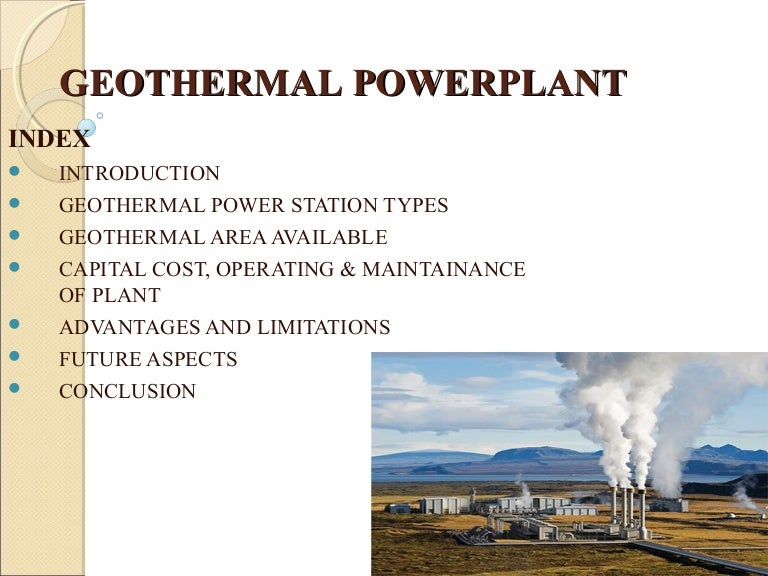 Best Ppt On Geothermal Powerplant