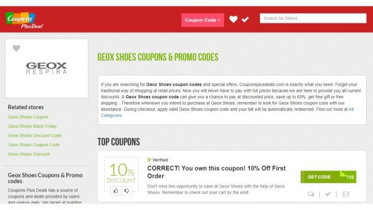 Discriminación Adviento pedal  Geox shoes Coupons: 10% OFF