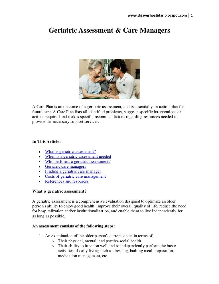 Home Care Nursing Assessment