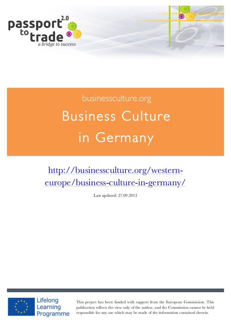 German Business Culture Guide Learn About Germany