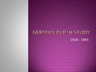 German depth study IGCSE