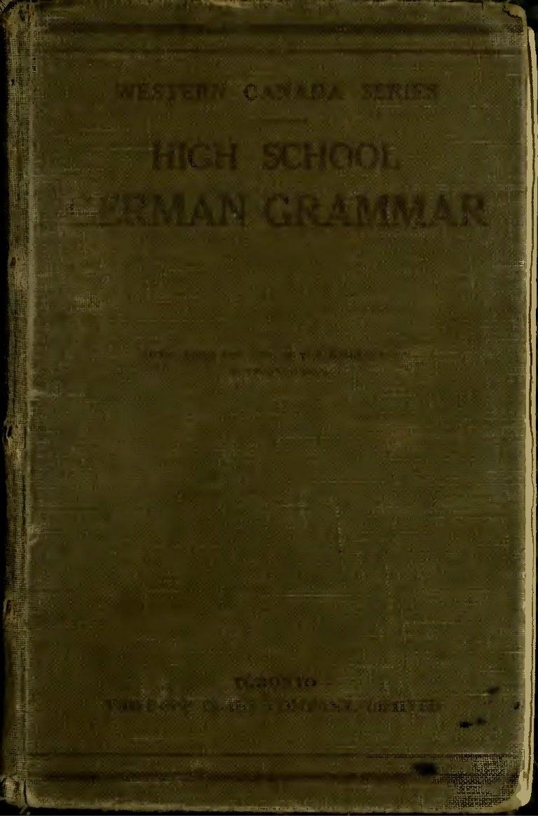 German high school grammar