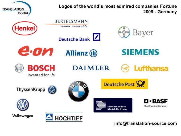 German Logos Included in Fortune's 2009 The Worlds Most