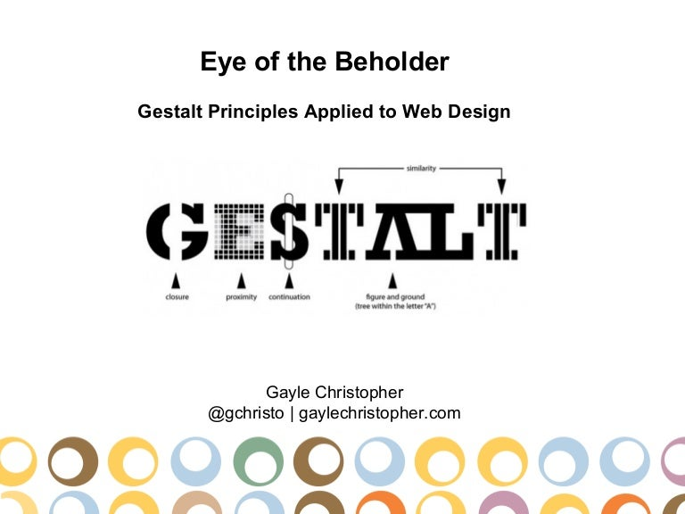 art design gestalt theory Gestalt is a psychology term which means unified whole it refers to theories of visual perception developed by german psychologists in the 1920s these theories attempt to describe how people tend to organize visual elements into groups or unified wholes when certain principles are applied.