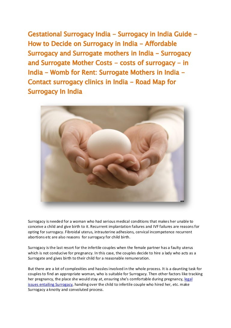 Uterus rental: report from surrogate motherhood clinic in India