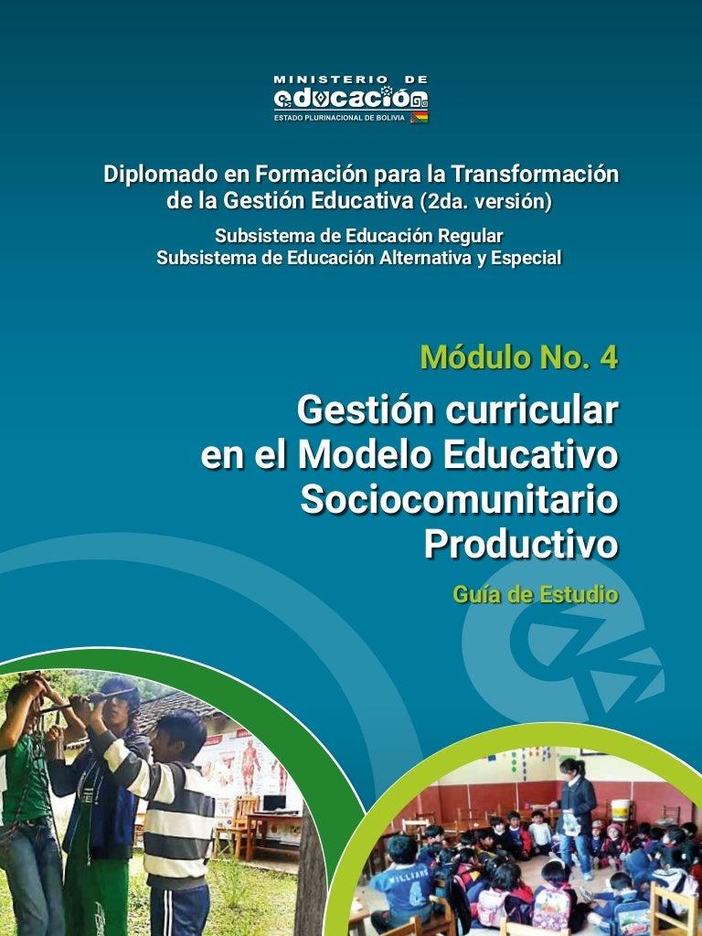 Gestión Curricular en el Modelo Educativo Sociocomunitario Productivo…